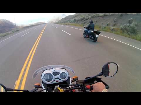 1080p Video of huge Ashcroft BC 7/7/2017 wildfire, motorcyclist get up close!