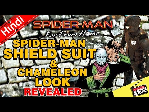 Spider-Man Far From Home SHIELD Suit & Chameleon Look Revealed [Explained In Hindi]