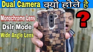 Types of Lens In Smartphone! Telephoto Lens, Monochrome Lens, Ultra Wide Lens & Depth  Sensor(hindi)