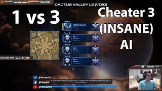StarCraft 2: Terran 1 vs 3 Cheater 3 (INSANE) AI !!!