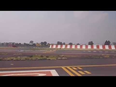 MMMX Take off Embraer 145 Passenger view