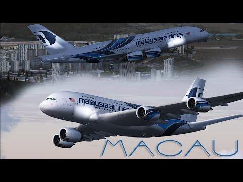 FSX - Malaysia A380 Departure Macau