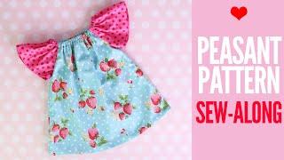 Peasant Dress Tutorial   ANNA Dress Pattern Sew Along