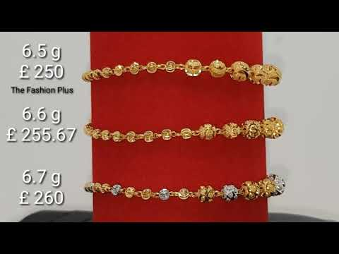 Light weight gold bracelet designs with weight and price