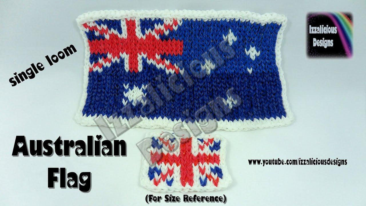 Rainbow loom australian flag mural move it forward for Australian mural