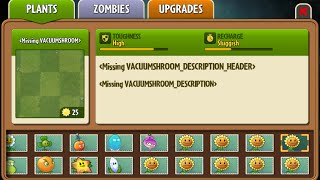 Vacuum-shroom - Scrapped Dark Ages Plant - Plants Vs. Zombies 2: It
