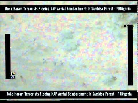 Boko Haram Fighters Fleeing NAF Aerial Bombardment In Sambisa