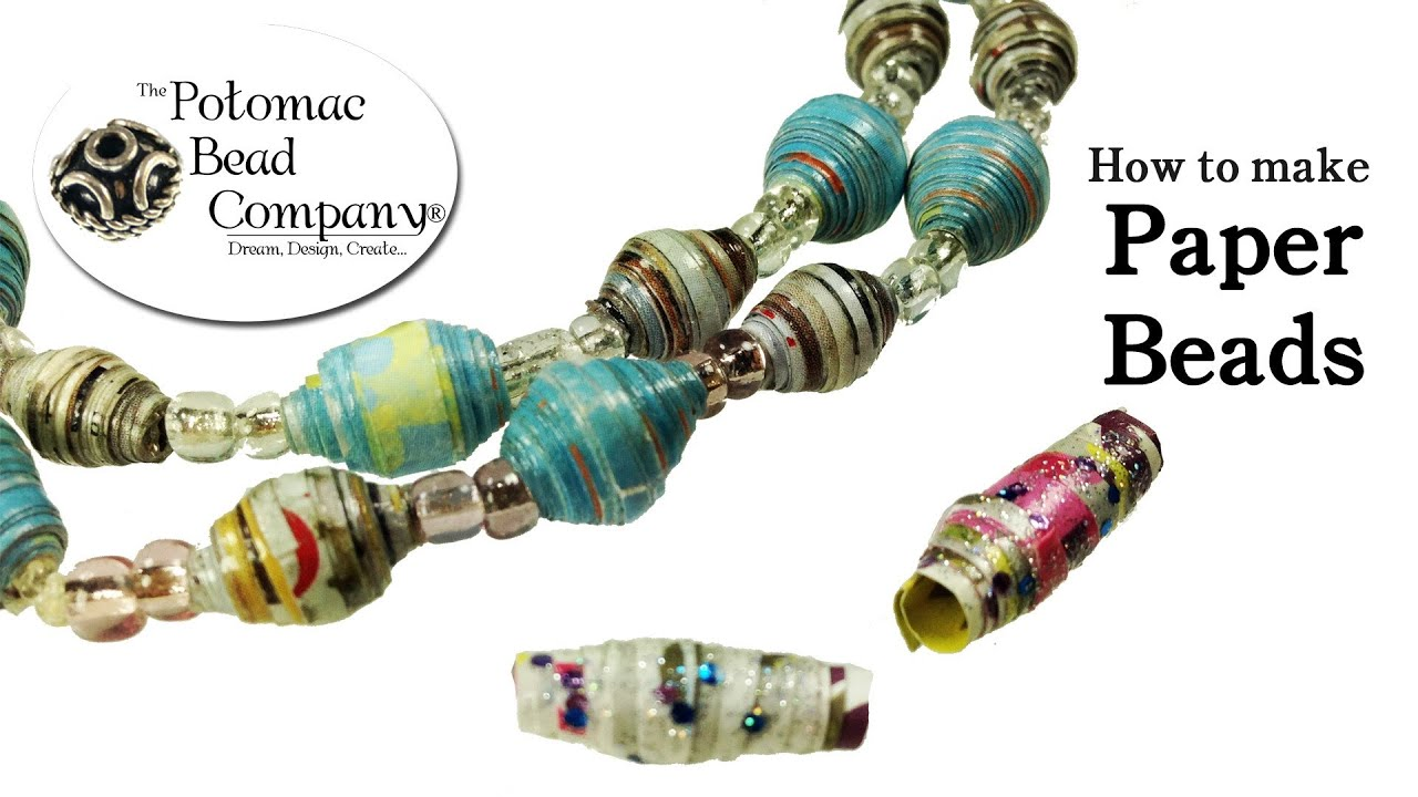 How To Make Paper Beads Youtube