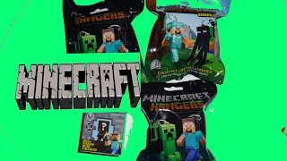 MINECRAFT Blind Box Mini Figures & 3 Blind Bags HANGERS Series 2 Opening Unboxing