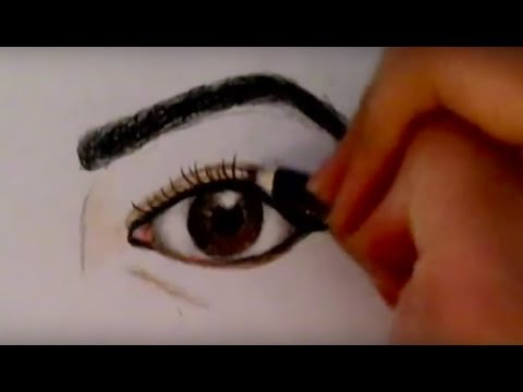 How to draw a realistic eye with colored pencils ! (For Begginers)