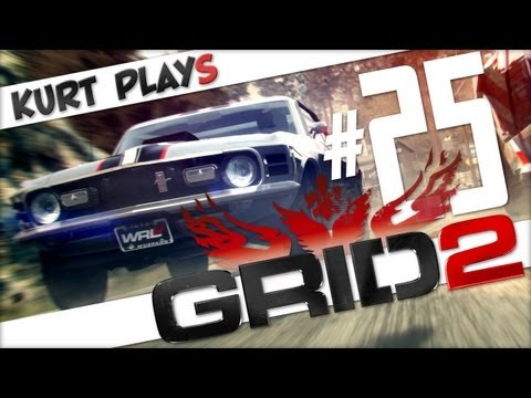 Kurt Plays GRID 2 - E25 - Using a Racing Wheel