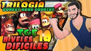 Top 10 Niveles Más Difíciles En La Trilogía Donkey Kong Country de SNES || MIANROCA