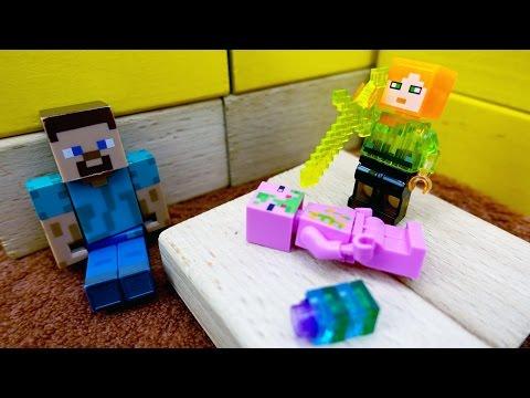 Стив и Егор: новые приключения! Свинозомби забрал  кристалл