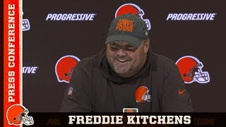 Freddie Kitchens Previews Titans Matchup & OBJ Is Ready to Play | Browns Press Conference