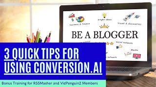 Download lagu 3 Quick TIps for Using Conversion.ai