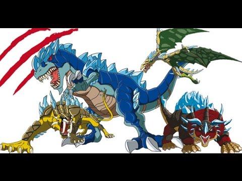 Dinofroz DinoGate Gladius Neceron T Rex Smilodon niños de juguete Juego Dibujos animados Unboxing