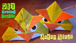 DIY How To Make Origami ANGRY BIRDS. Funny 3D Crafts. Easy Tutorial For Children And Beginners