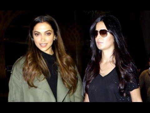 xXx Deepika Padukone and HOT Katrina Kaif Spotted at Mumbai Airport
