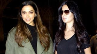 xXx Deepika Padukone and HOT Katrina Kaif Spotted at Mumbai Airport