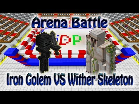 Minecraft Arena Fight Iron Golems VS Wither Skeletons