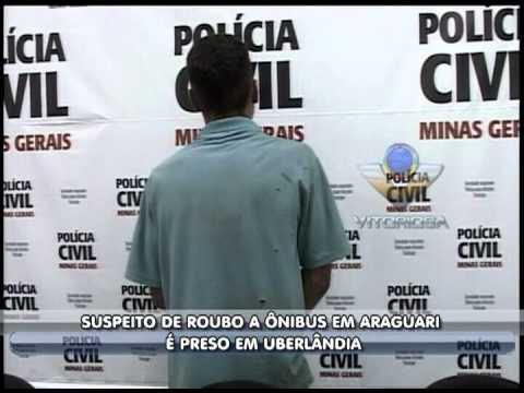 Suspeito de roubo a ônibus em Araguari é preso em Uberlândia - parte 1