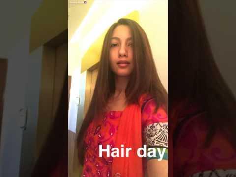 Gauhar Khan Hair Day   Snapchat 9 June, 2017   uRS TV thumbnail