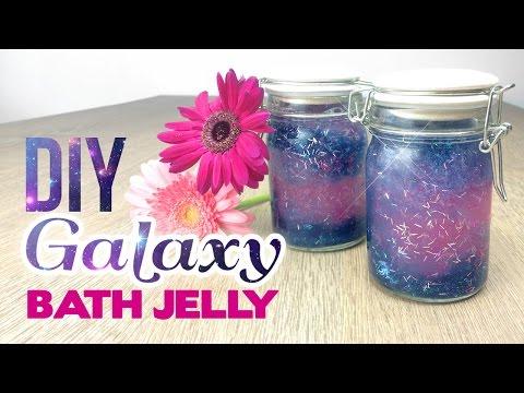 DIY GALAXY Bath Jelly! Lush & Tumblr Inspired Galaxy DIY - YouTube