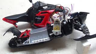 Rc snowmobile polaris rush brushless convertion part 1.