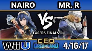 CEO Dreamland 2017 Smash 4 - NRG | Nairo (ZSS/Lucina) Vs. Elevate | Mr. R (Sheik) SSB4 Losers Finals