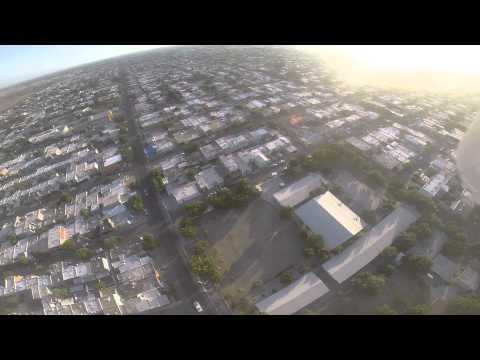 probando drone phantom con go pro full hd