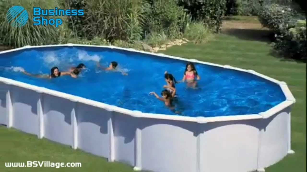 Piscina fuori terra ovale haiti by youtube for Leroy merlin bache piscine