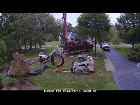 Geothermal Well Drilling - Time Lapse
