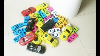 COLOR CARS Parking and smashing with a Big Car || kid playing with toys || video for children