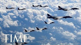 U.S. Flies Powerful Warplanes Over North Korea In Show Of Force 3 Days After Missile Launch | TIME