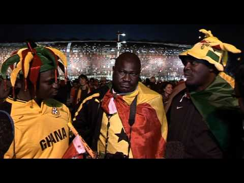 World Cup 2010 - BBC World News : Ghana fans react after Uruguay defeat