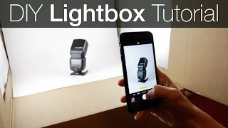 DIY Light Box Photography Tutorial - How to make a Lightbox