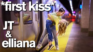 Dance Moms Elliana Walmsley FIRST KISS with JT Church! *Adorable*