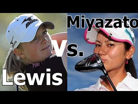 STACY LEWIS vs. AI MIYAZATO GOLF SWING