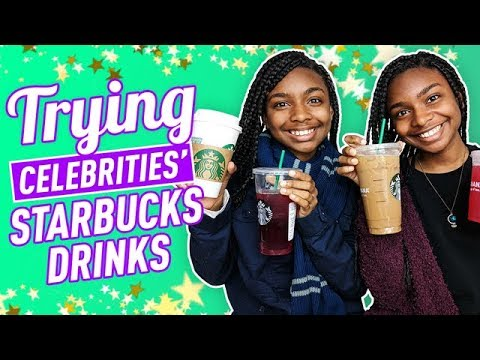 Trying Celebrities' Starbucks Drinks | Deja and Di-V