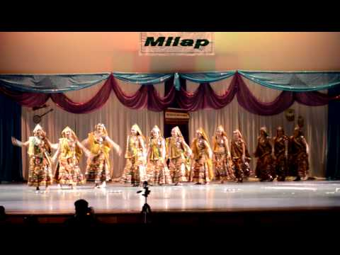 Holiya Me Ude Gulaal - Rajasthani Folk Dance- Ics Milap 2013 video