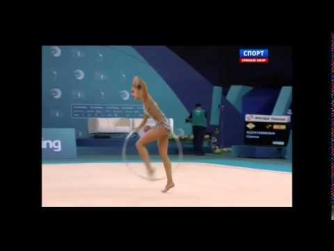 cto de europa baku 2014 gimnasia ritmica individual.rotacion 1 tv rusa