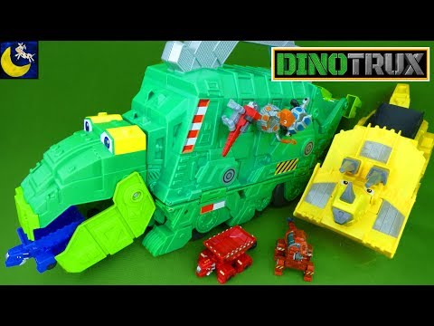 LOTS of Dinotrux Toys NEW Stego Storage Garby Diecast Dinosaur Toys Collection Ty Revvit Skya Dozer