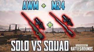 AWM + M24 - Just9n Solo vs Squad FPP [NA] - PUBG HIGHLIGHTS TOP 1 #50