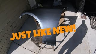 How to paint a car fender at home