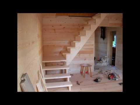 Как построить лестницу на второй этаж своими руками фото