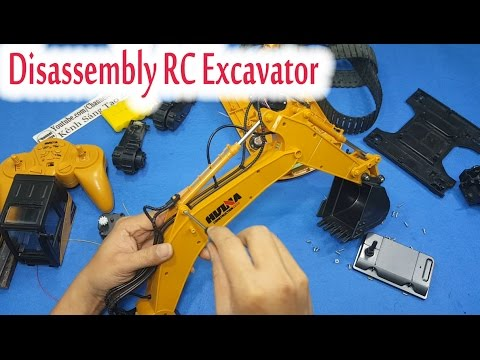 Disassembly - What's inside RC Excavator Huina Toys 1550