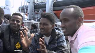 Migrants tell their stories after rescue on Lampedusa