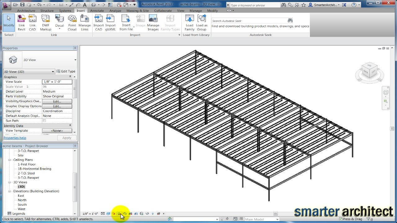 Revit Structure 2013 Tutorials Modeling Revit Bar Joist