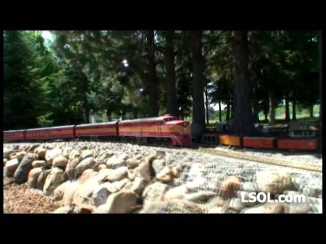 Garden Trains:  Video Tour: Steve Hughes' Spokane Division of the Southern Pacific Railroad