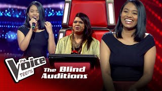 Naduni Subhavi | Me Tharam Siyumalida|Blind Auditions | The Voice Teens Sri Lanka